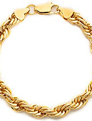 cheap -rope bracelet 7mm diamond cut for men and women 24k gold plated (7)
