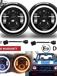 cheap -2 Pcs 7 Inch Running Lights 50W Hi Lo H13 Led Headlight Kits Car Led H4 Auto Led for LADA Niva Safari Patrol UAZ Offroad