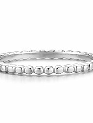 cheap -stacking ring for women [size 8] teens & girls [.925 sterling silver] - dainty vintage bead bump band [hypoallergenic]