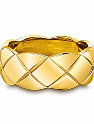 cheap -gold ring 18k gold plated statement rings for women & girls, stacking band rings women jewelry minimalist ring (gold, 5)