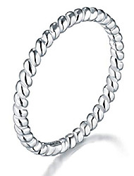 cheap -925 sterling silver ring, twisted eternity band stackable rings 2mm size 7.5, benefiting the american red cross