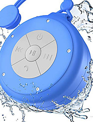 cheap -Shower Speaker Mini Wireless Waterproof Bluetooth Speaker 3w Driver Suction Cup Portable Speakerphone Built-in Mic