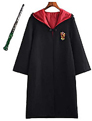 cheap -costume children adult cloak magic wand gryffindor hufflepuff ravenclaw slytherin set fan articles vest tie scarf glasses necklace carnival disguise carnival halloween