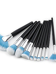 cheap -makeup brush, 10pcs/set black wood concealer lip eyebrow makeup brush foundation blending powder eyeshadow contour concealer beauty colorful brush cheek cosmetic tool kit 3color (color : blue)