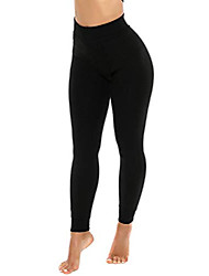 cheap -women winter warm stretch fit leggings with fleece and thick leggings (vq1078 black, m)