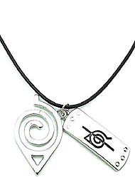 cheap -naruto necklace leaf necklace akatsuki kakashi itachi village symbol logo double brand pendant