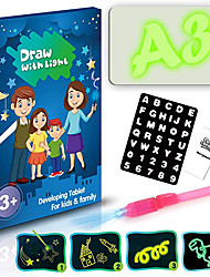 cheap -Light Drawing Board Drawing Flip Board Drawing with Light Plastic Draw With Light Fun Kid's Adults' Boys and Girls for Birthday Gifts or Party Favors
