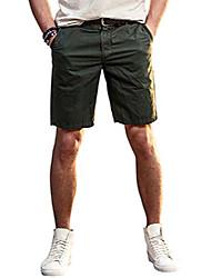 cheap -beach shorts for mens comfy cargo shorts flat front shorts 12 inch inseam size 36 dark green