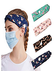 cheap -headbands for women with buttons headbands for mask nurses bandannas for head wraps elastic hair band 1 pack