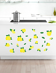 cheap -Fresh Green Lemon Home Background Kitchen Cabinet Background Decoration Can Remove Stickers 88*28cm