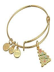 cheap -alex and ani color infusion, seashell christmas tree bangle bracelet shiny gold one size