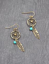 cheap -Women's Girls' Drop Earrings Dangle Earrings Pear Cut Fashion Weave Teardrop Bohemian Fashion Vintage Trendy Boho Earrings Jewelry Gold / Silver For Street Gift Date Vacation Beach 1 Pair