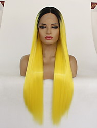 cheap -12-28 Inch Chemical Fiber Wig Female Headgear Dyed Medium Length Straight Hair Wig Headgear