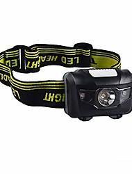 cheap -led headlamp led flashlight with red lights great for hunting camping hiking fishing dog walking kids one of the lightest (2.6 oz) white cree headlight red strobe 3 aaa batteries not included (black)