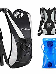 cheap -hydration backpack, water backpack with 2l water bladder lightweight hiking backpack hydration vest bag pack pefect for outdoor cycling marathon running skiing camping climbing for men blue