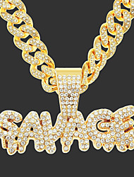 cheap -Men's Boys' Necklace Friends Trendy Alloy Gold 55 cm Necklace Jewelry 1pc For Party Evening