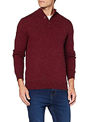 cheap -amazon brand - men's cotton jumper, red (burgundy), l, label:l