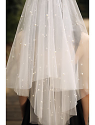 cheap -One-tier Pearls / Basic Wedding Veil Fingertip Veils with Faux Pearl / Beading 59.06 in (150cm) Tulle