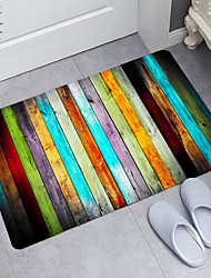 cheap -Colored Wood Digital Printing Floor Mat Modern Bath Mats Nonwoven  Memory Foam Novelty Bathroom