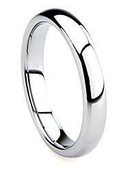 cheap -tungsten carbide 4mm plain dome wedding band ring sz 5.5