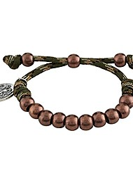 cheap -paracord camouflage religious bracelet with silver toned saint michael medal, 9 inch (jungle green)