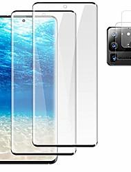"cheap -[2+2] galaxy s20 ultra screen protector tempered glass + camera lens protective film [support fingerprint unlock] [9h hardness] [anti-fingerprint] [hd clarity] for galaxy s20 ultra 5g (6.9"")"