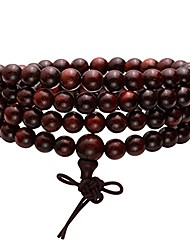 cheap -6mm108 sandalwood prayer beads mala bracelet/necklace for buddha meditation tibetan