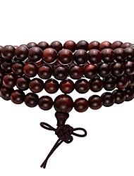 cheap -6mm108 sandalwood prayer beads mala bracelet/necklace for buddha meditation tibetan