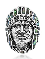 cheap -abalone shell native american style .925 sterling silver ring (7)