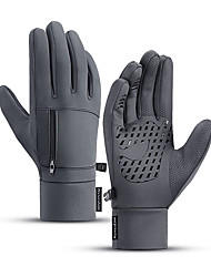 cheap -Winter Bike Gloves / Cycling Gloves Touch Gloves Anti-Slip Waterproof Warm Winter Sports Full Finger Gloves Sports Gloves Silicone Gel Black Grey for Adults' Outdoor Exercise Cycling / Bike