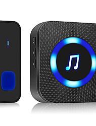 cheap -300M Wireless Door Bell Waterproof Battery Operated Loud Chime Doorbell Wireless Electronic Waterproof Houseware DC Doorbell