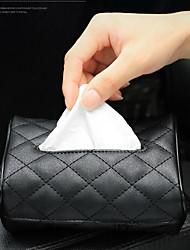 cheap -2020 New Universal PU Leather Car Tissue Box Cover Napkin Paper Holder Sun Visor Towel Organizer Case Auto interior Accessories
