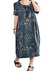 cheap -women's lagenlook plus size vogstyle maxi long dress dark green size uk 16