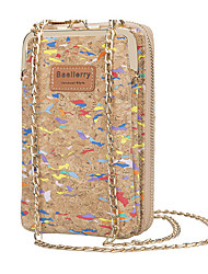 cheap -Women's Bags PU Leather Mobile Phone Bag Crossbody Bag Zipper Embossed Graphic Prints Printing 2021 Daily Light Coffee Camel Almond Champagne