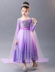 cheap -Princess Cosplay Costume Costume Girls' Movie Cosplay Euramerican Purple Dress Cloak Christmas Halloween Carnival Polyester / Cotton Polyester