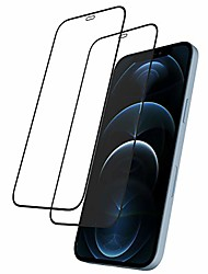"cheap -rosebono glass screen protector for iphone 12 pro max (6.7"") [edge to edge coverage] ultra clear full protection tempered glass screen protector compatible iphone 12 pro max - pack of 2"