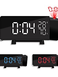 cheap -New Creative TS-5210 LED Projection Alarm Clock Digital Radio Snooze Timer Temperature LED Display FM Radio Three Color Clock