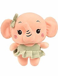cheap --stuffed toy cartoon cute couple elephant plush toys for baby room deco (girl)