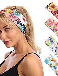 cheap -6 pcs Headbands Hair Accessories Spandex / Terylene Wigs Accessories Women's flower headband