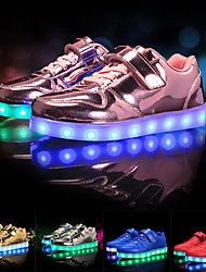 cheap -Girls' Sneakers LED LED Shoes USB Charging PU Slip Resistant LED Shoes Little Kids(4-7ys) Big Kids(7years +) Athletic Lace-up LED Luminous Black Red Pink Fall Winter