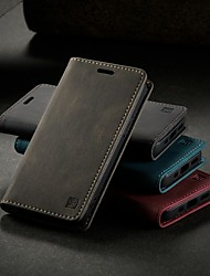 cheap -Autspace Leather Case For Apple iPhone 12 / iPhone 11 / iPhone 12 Pro Max Card Holder / Shockproof / Dustproof Full Body Cases Solid Colored PU Leather