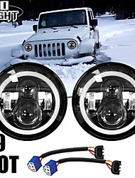 cheap -2 Pcs 7 Inch Led Driving Light 50W 30W H4 H13 LED Car Headlight Kit Auto for Lada Led Head Lamp Bulbs Dipped & High Beam