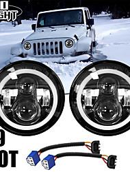 cheap -2 Pcs 7 Inch Led Driving Light 50W 30W H4 H13 LED Car Headlight Kit Auto for Lada Led Head Lamp Bulbs Dipped & High Beam