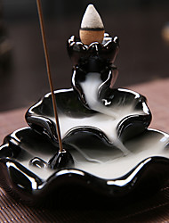cheap -Creative Reflux Incense Holder Ceramic Backflow Waterfall Smoke Incense Burner Home Decor Teahouse Use Stick Censer