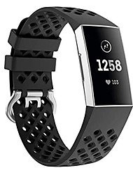 cheap -compatible with fitbit charge 3 strap band, replacement accessory bracelet silicone sports wristband for charge 3/charge 3 se watch small large