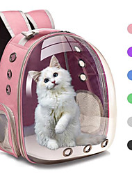 cheap -breathable pet travel backpack space capsule carrier bag hiking bubble backpack for cat & dog (light blue)