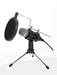 cheap -Wired Microphone Condenser Microphone Pop Filter X-01 3.5mm Jack for Studio Recording & Broadcasting Notebooks and Laptops PC Mobile Phone