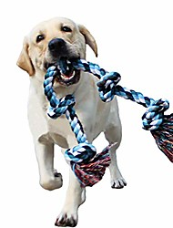 cheap -dog rope toys for aggressive chewers tough rope chew toys for large and medium dog 3 feet 5 knots indestructible cotton rope for large breed dog tug of war dog toy teeth cleaning