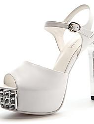 cheap -Women's Dance Shoes Modern Shoes Heel Slim High Heel White Black Ankle Strap Adults'