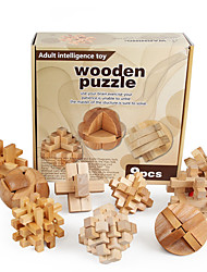 cheap -Jigsaw Puzzle Wooden Puzzle Luban Lock Creative Ball Focus Toy Wooden / Bamboo 1 pcs Adults All Boys' Girls' Toy Gift